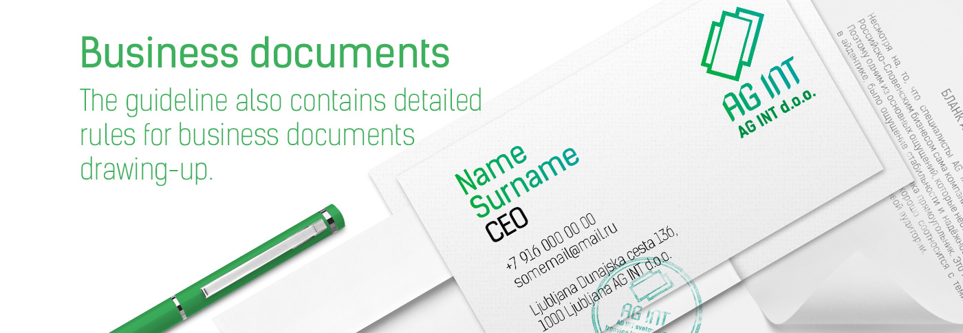business documents design