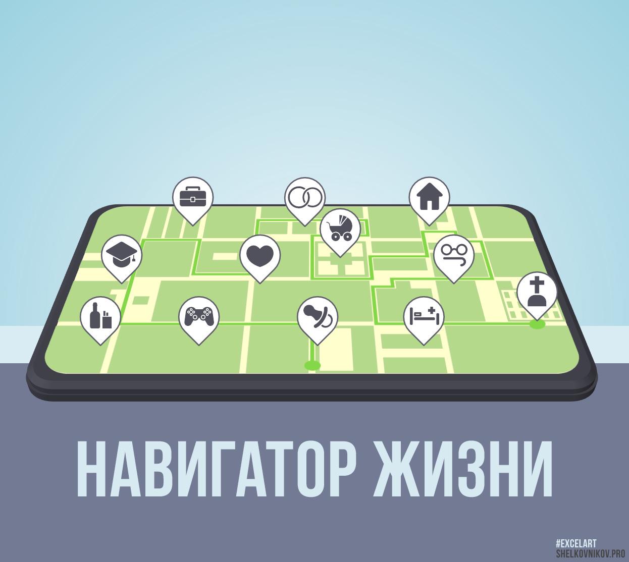 Иллюстрация навигатор жизни