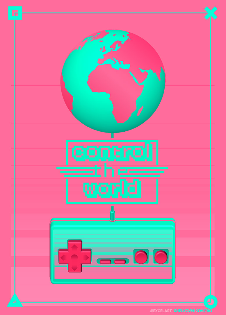 Poster. Control the world