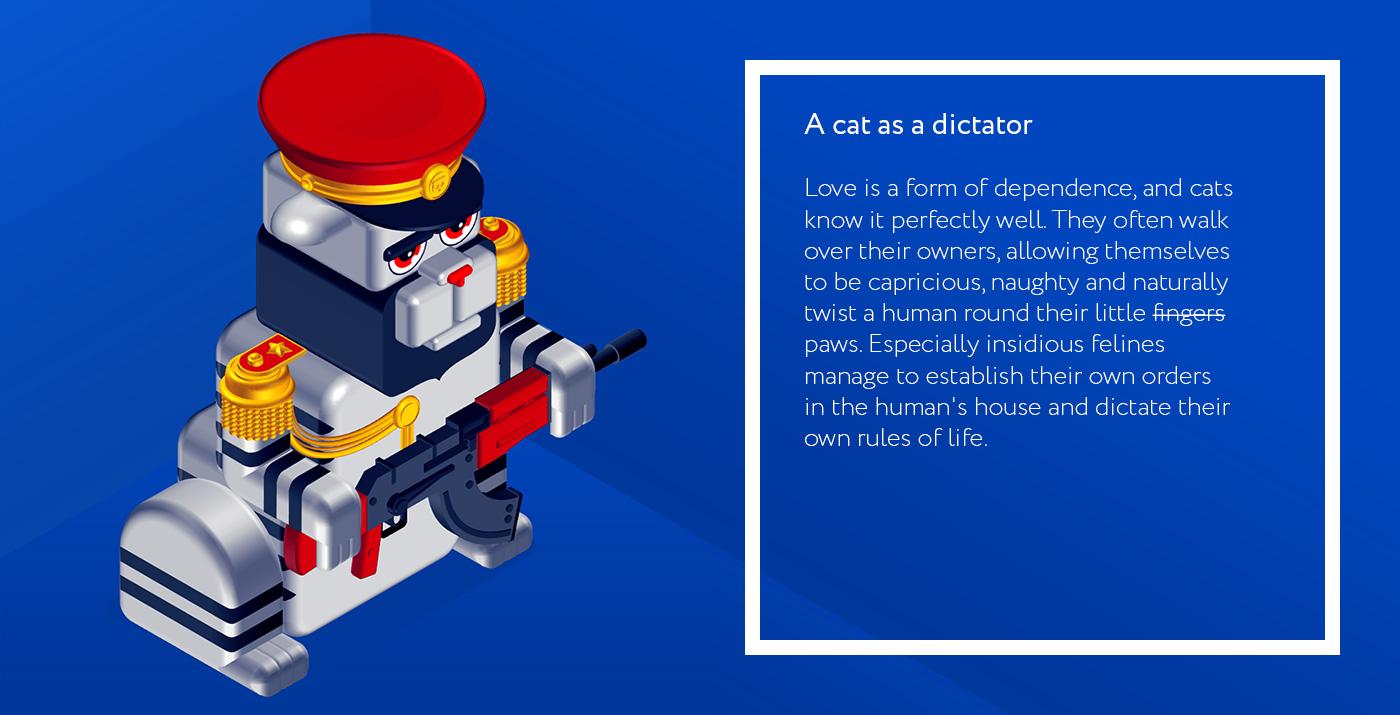 A cat as a dictator