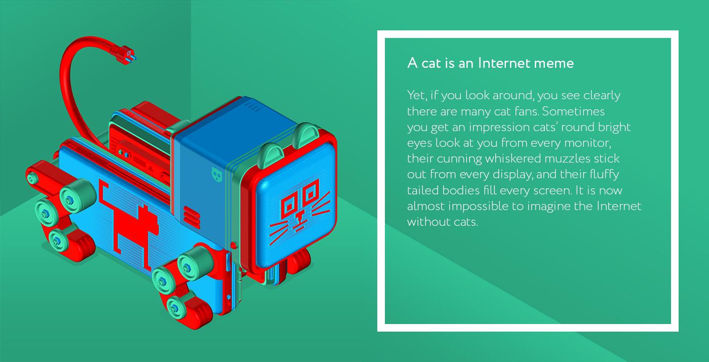 A cat is an Internet meme