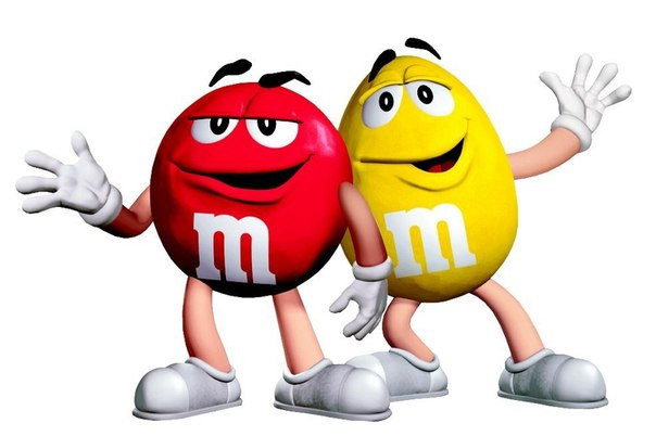 M&Ms фирменные персонажи